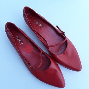 Esprit | Prlynne red leather shoes